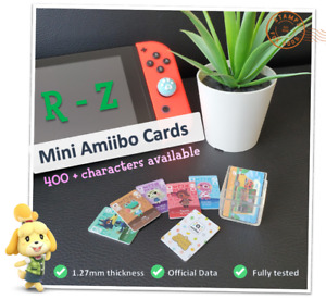 🌱 Mini Animal Crossing New Horizons Amiibo Card Nintendo Wii U 3DS Switch | R-Z
