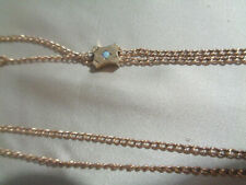 """Slide Opal Center 14Kt Gold Filled Victorian 48"""" Slide Chain, With Small"""
