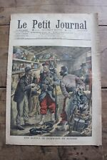 Petit journal dibujada 947 1909 Deserción Argelia Terroristas Policiaca Rusas