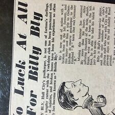 m3h ephemera 1954 football article bill bly hull city
