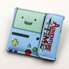 Anime wallet Adventure Time BMO Leather Wallet Cosplay BMO Purse Two-Fold  WVX
