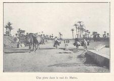 G0824 Une piste dans le sud du Maroc - Stampa d'epoca - 1923 old print