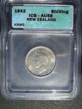 1942 New Zealand Shilling, ICG AU 58