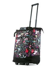 Olympia RS-400-BF Fashion Rolling Shopper Tote - Butterfly NEW