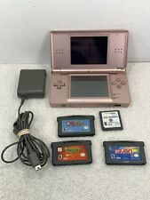 Game Boy DS Lite Pink Pets Nintendo W Charger Yoshi Island DS No Stylist 4 games