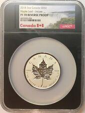 2018 Canada $50 Silver Maple Leaf - Incuse 3 oz. NGC PF70