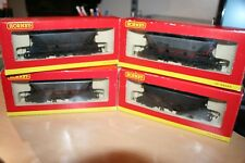 4x Hornby MGR Coal Hopper Wagons WEATHERED BOXED