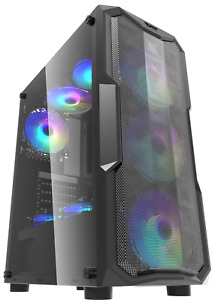 PC ATX M/ATX GAMING CASE MESH MID TOWER  WITH 3 X RGB FANS IONZ KZ05