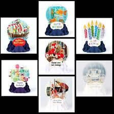 Pop-Up Snow Globe Card - Great selection to Choose From..