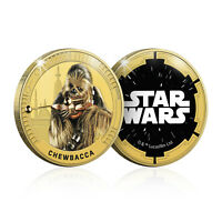 Star Wars Gifts Limited Edition Collectable Chewbacca Gold Plated Coin Medal