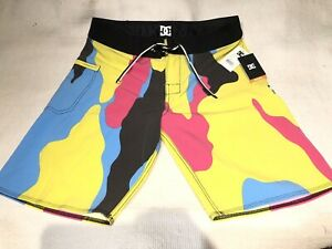 DC Shoes BRAND NEW stretch Boardshorts Trunks w/TAGS Deluxe Dobby mens size 32