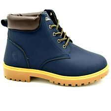 Akademiks Boys Trail-01 Boys Cushioned Collar Lace Up Ankle Boots Sz 5 Navy New