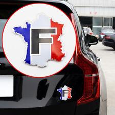 Chrome Car Accessory 3D Decal Sticker FR France Map Flag Logo Emblem Badge Trim