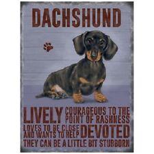 Dachshund dog ..., Colourful Metal 20cm x 15cm Sign,