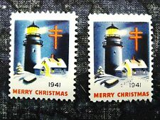US, 1941 Christmas Seal , Freak, No Footprints in Snow, WX104, 41-1.1, MNH