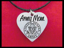 Army Mom Heart Necklace, Personalized FREE with his name! Love Soldier