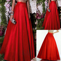 2016 New Red A Line Party Skirt Full Length Princess Skirt Size 6 8 10 12 14 16