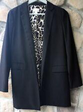 CHICO'S Women's Black Long Sleeve Blazer/Lined  Animal Print Fabric Size 0