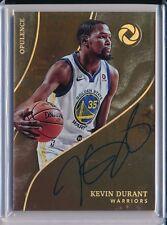 Kevin Durant Warriors 2017-18 Panini Opulence Auto Holo Gold 4/10