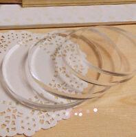 1pcs 2mm Clear Circle Discs Acrylic Sheet Perspex Plexiglass Plastic Plate #B5V