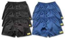 6 PACK OF SATIN BOXER SHORTS NAVY BLACK ALL SIZES AVAILABLE S M L XL XXL S605