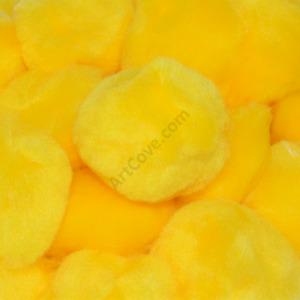 1.5 inch Yellow Craft Pom Poms 50 Pieces