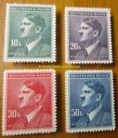 EBS Bohemia and Moravia 1942 - Adolf Hitler High-Values - Michel 107-110 MNH**