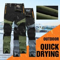 Men Winter Tactical Pants Waterproof Cargo Outdoor Hiking Climbing Trousers Warm