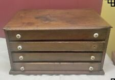ANTIQUE GLASSES OPTOMETRIST / WATCHMAKERS / SPOOL CABINET CASE 4 DRAWER