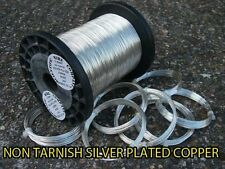 SILVER PLATED COPPER WIRE 12 Gauge 2mm nichel free-Tarnish resistente 500g