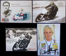 UMBERTO MASETTI Gilera 500 4 cil set 4 cartoline motomondiale motogp campione