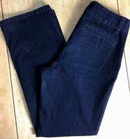 Croft & Barrow Women's 10 Dark Wash Chino Style Straight Fit Stretch Denim Jeans