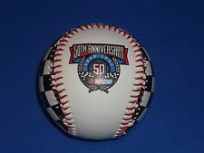 50th NASCAR ANNIVERSARY 1998 LOGO BASEBALL WITH BALL STAND - BRAND NEW!!
