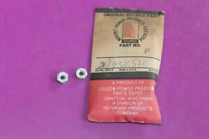 Two (2) NOS OEM Tecumseh Nuts. Part 650580. Acquired from a closed dealership.