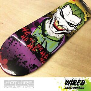 "WIRED(TM) Skateboard Deck 8""x 32"" High Gloss Comic Artwork (Grip Tape Applied)"