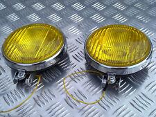 (2) ANCIEN ANTIBROUILLARD LONGUE PORTEE PHARE ROND VOITURE ANCIENNE CAR LIGHTS