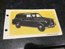 Spot On Triang Austin FX4 Taxicab Technical Data Card