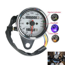 Motorcycle Odometer Speedometer Tachometer Speedo Meter LED For Honda Cafe Racer