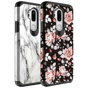 For LG G7 ThinQ Case, Dual Layer Hybrid Shockproof Case