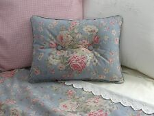 NEW Custom Ralph Lauren Shelter Island Blue Floral Accent Pillow 2 Button