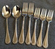 International ROYAL BEAD 18/10 Stainless Seven Pieces Forks and Spoons