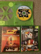 Xbox 3 Game Bundle. Dead Or Alive 1 Ultimate, Sneakers, Sneak King. Tested.