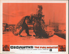 GODZILLA RAIDS AGAIN/GIGANTIS THE FIRE MONSTER orig 1959 lobby card poster #2