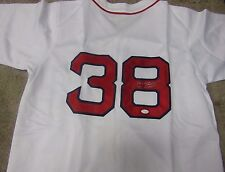 CURT SCHILLING AUTOGRAPHED SIGNED BOSTON RED SOX JERSEY JSA COA