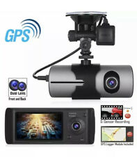 Dual Lens R300 GPS Camera HD Car DVR Dash Cam Video Recorder G-Sensor