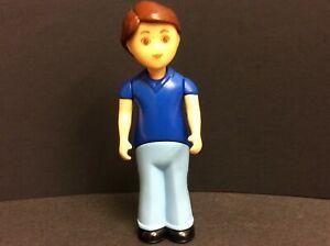 "Vintage Little Tikes Dollhouse Father Dad Man Blue Figure Toy 5-1/2"""