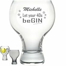 Personalised Engraved 540ml large thick stem GIN glass 40th 50th 60th any beGIN
