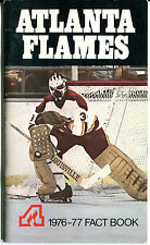 1976-77 NHL Atlanta Flames Fact Media Guide Book National Hockey League