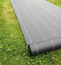 Yuzet 2 m x 50 m 100 g Mauvaises Herbes Tissu Couvre-Sol Membrane Paysage paillis