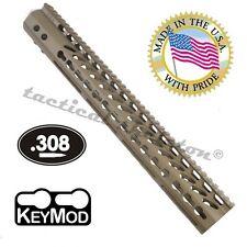 "16.5"" ULTRA LIGHT FDE 308 SLIM KEYMOD FREE FLOAT HANDGUARD MONOLITHIC RAIL TAN"